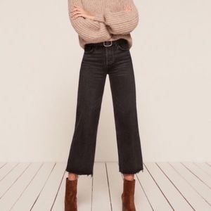 Reformation Fawcett Button Fly Crop Jean Pacific